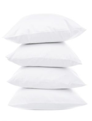 White Pillows Isolated on White Background